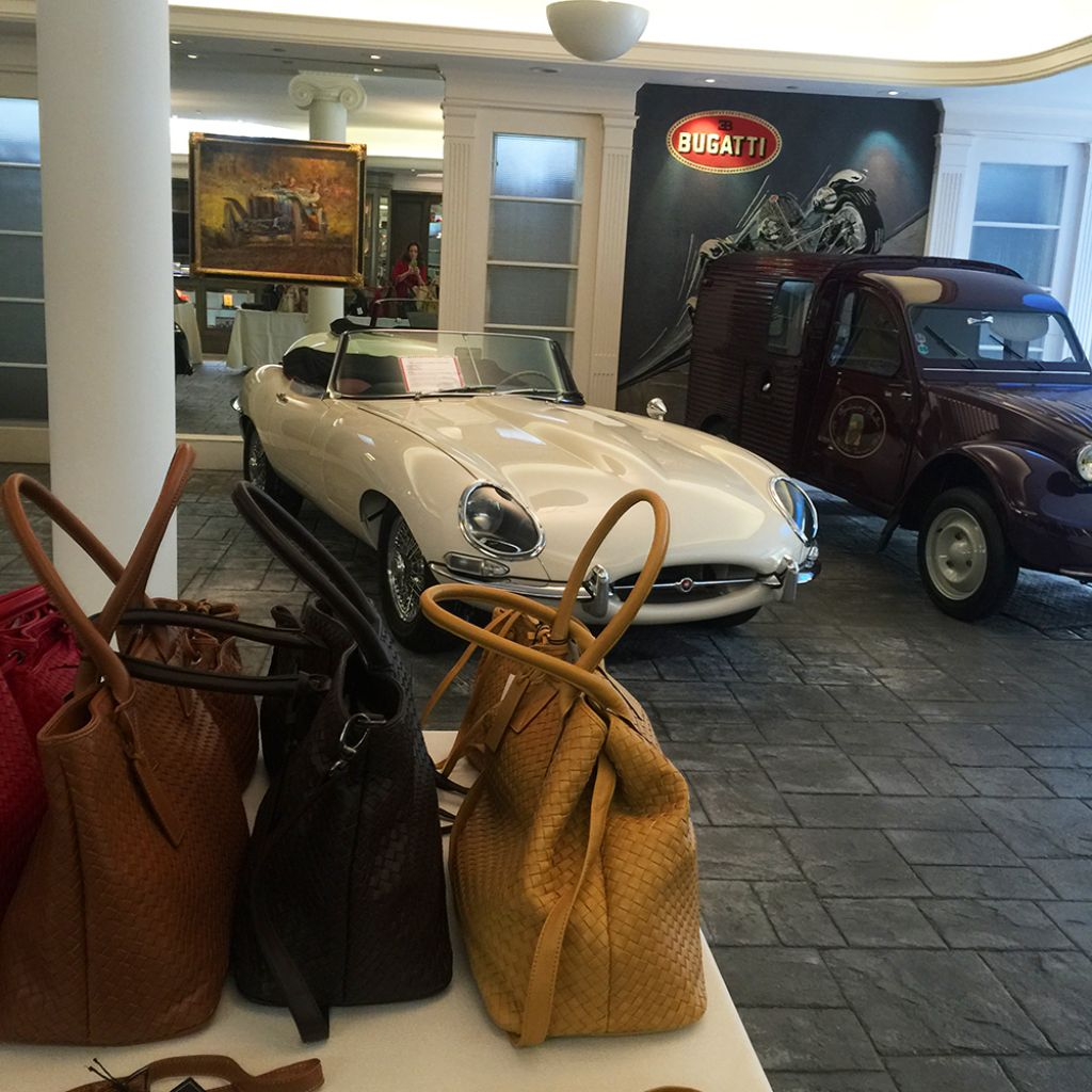 Private preview Spring/Summer 2015 collection at The Mullin Private Automotive Showroom, Beverly Hills
